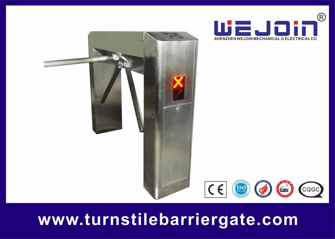 Waist Height Pedestrian Access Control Turnstile Gate Double Direction With ESD Tester