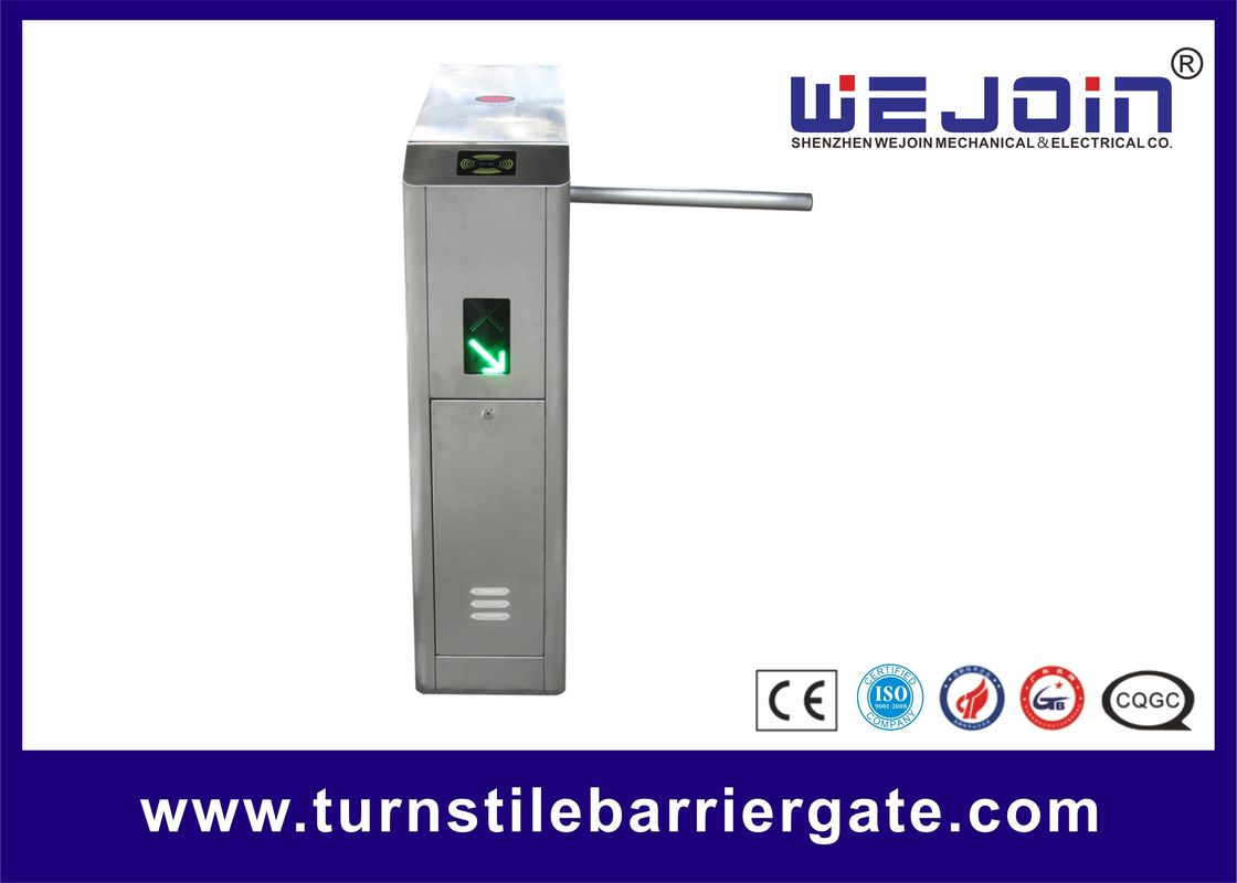 IC Card Security Tripod Turnstile Gate Full Automatic Access Control System
