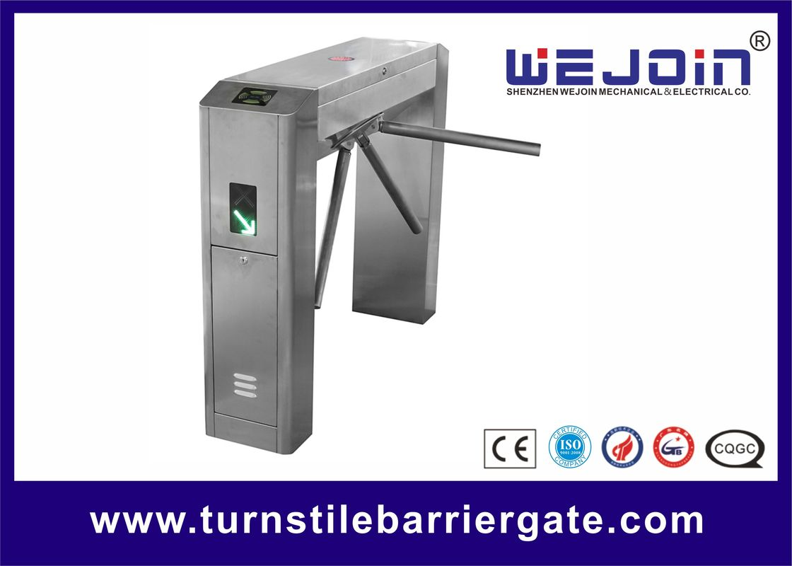 Security Passage Rfid Vertical Pedestrian Turnstile Gate Automatic Metro Station
